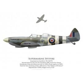 Spitfire TR 9 MJ772, G-AVAV, Biggin Hill, 2019