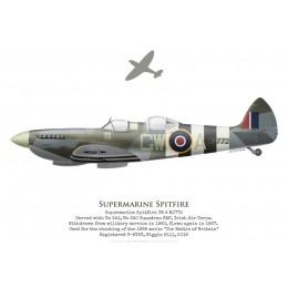 Supermarine Spitfire TR 9 MJ772, G-AVAV, Biggin Hill, 2019