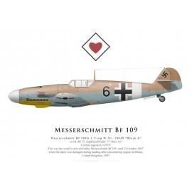 "Bf 109G-2 Trop, ""Black 6"", G-USTV, 1997"