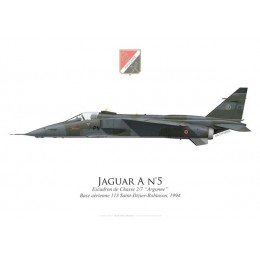 "Jaguar A, Escadron de Chasse 2/7 ""Argonne"", Base Aérienne 113 Saint-Dizier-Robinson, 1994, French Air Force"