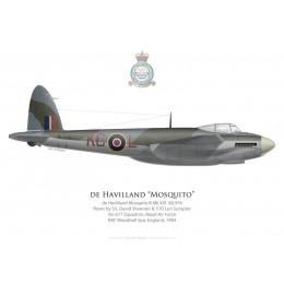 Mosquito B Mk XVI, S/L David Shannon & F/O Len Sumpter, No 617 Squadron, Royal Air Force, Woodhall Spa, 1944