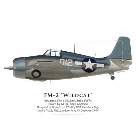 Grumman FM-2 Wildcat, Lt(jg) Sape Legatos, VC-68, USS Fanshaw Bay, October 1944
