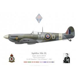 "Spitfire Mk IXc, Pierre Clostermann, No 602 Squadron ""City of Glasgow"", Royal Air Force, 1944"