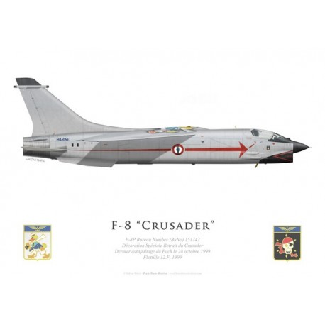 F-8P Crusader, Last flight special scheme, 1999, French Navy