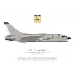 F-8E(FN) Crusader, Flottille 12.F, French Navy, 1964