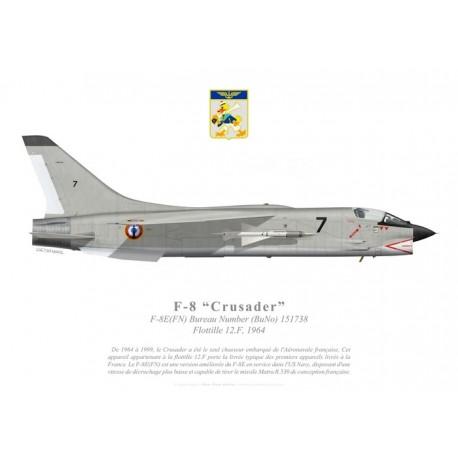 F-8E(FN) Crusader, Flottille 12.F, French Navy, 1964