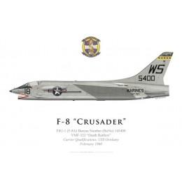 "F-8A, VMF-323 ""Death Rattlers"", USS Oriskany, February 1960"