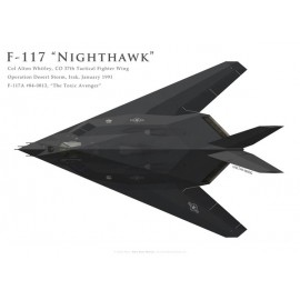 "F-117A ""Nighthawk"", Col. Alton Whitley, CO 37th TFW, Operation Desert Storm, 1991"