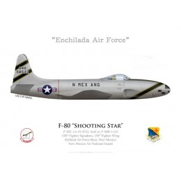 F-80C Shooting Star, 188th FS, 150th FW, Kirtland AFB, New Mexico ANG