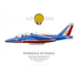 Alpha Jet E, BA 701 Salon-de-Provence, 60 ans de la Patrouille de France, 25 & 26 mai 2013