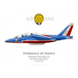 Alpha Jet E, 60th anniversary of the Patrouille de France, 2013