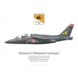 """Alpha Jet E, Escadron d'Entraînement 2/2 """"Côte d'Or"""", SPA 65, BA 102 Dijon-Longvic"""