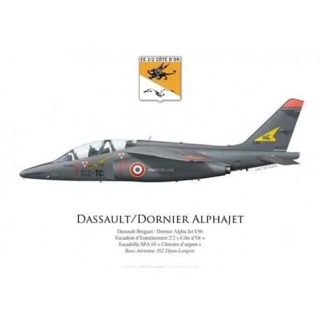 """Alpha Jet E96, Escadron d'Entraînement 2/2 """"Côte d'Or"""", SPA 65, BA 102 Dijon-Longvic"""