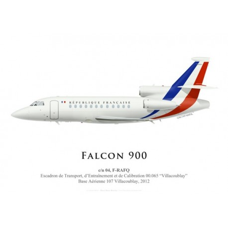 "Falcon 900 F-RAFQ, ETEC 00.065 ""Villacoublay"", French Air Force, 2012"