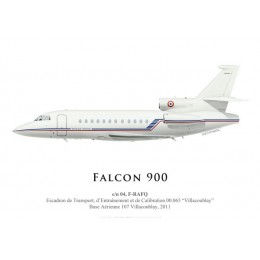 """Falcon 900 F-RAFQ, ETEC 00.065 """"Villacoublay"""", BA 107 Villacoublay, 2011"""