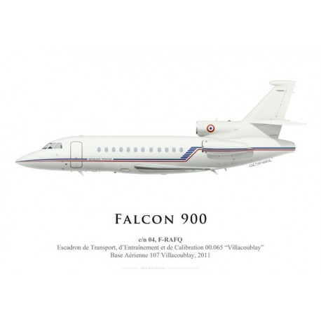 "Falcon 900 F-RAFQ, ETEC 00.065 ""Villacoublay"", French Air Force, 2011"