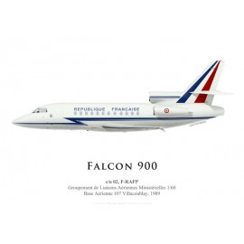 Falcon 900 F-RAFP, GLAM 1/60, French Air Force, Villacoublay, 1989