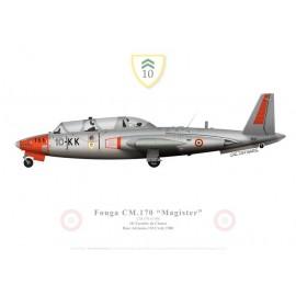 Fouga Magister, 10e Escadre de Chasse, BA 110 Creil, 1980