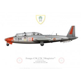 Fouga Magister, 10e Escadre de Chasse, French Air Force, Creil, 1980