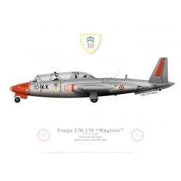 Fouga Magister, 10e Escadre de Chasse, French Air Force, Creil, 1980