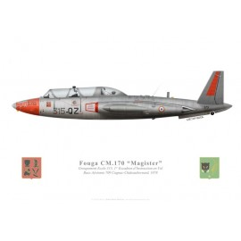 Fouga Magister, GE 315, 1er EIV, French Air Force, Cognac, 1978