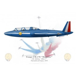 Fouga Magister, Cdt Amberg, Leader of the Patrouille de France, 1978