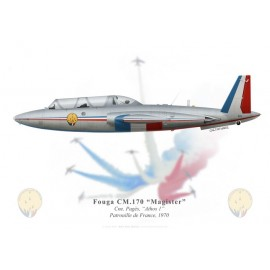 Fouga Magister, Cne Pagès, leader of the Patrouille de France, 1970