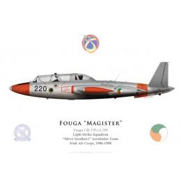 Fouga Magister, Silver Swallows aerobatics demonstration team, Irish Air Corps, 1986-1998