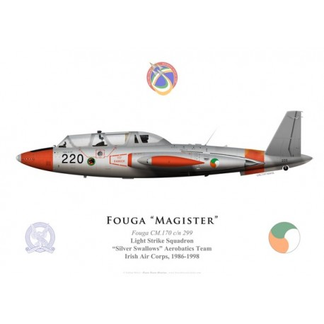 Fouga Magister, Silver Swallows aerobatics demonstration team, Irish Air Corps, 1986-1998