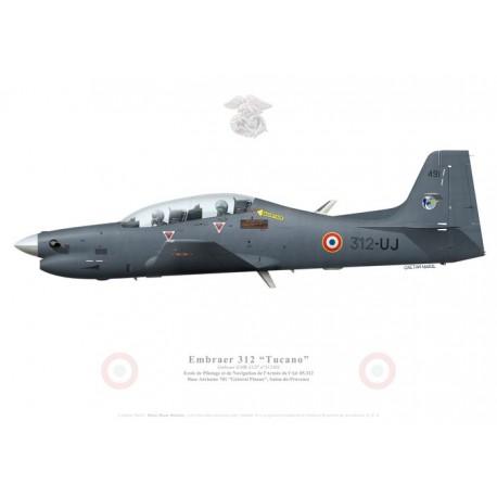 Embraer 312F Tucano, Ecole de Pilotage et de Navigation de l'Armée de l'Air 05.312, BA 701 Salon-de-Provence