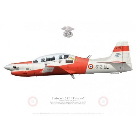 Embraer 312F Tucano, EPNAA 05.312, French Air Force, Salon-de-Provence