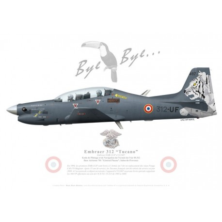 Embraer 312F Tucano, EPNAA 05.312, French Air Force, Tucano retirement special paint scheme