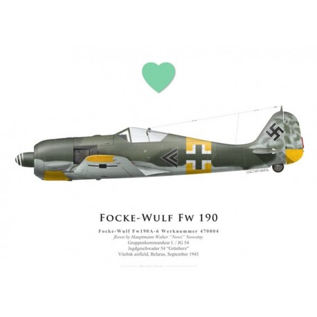 Focke-Wulf Fw 190A-6, Hptm. Walter Nowotny, I./JG 54