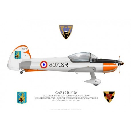 CAP 10B, EFIPN 02/313 flight school, French Air Force, Aulnat, 1977