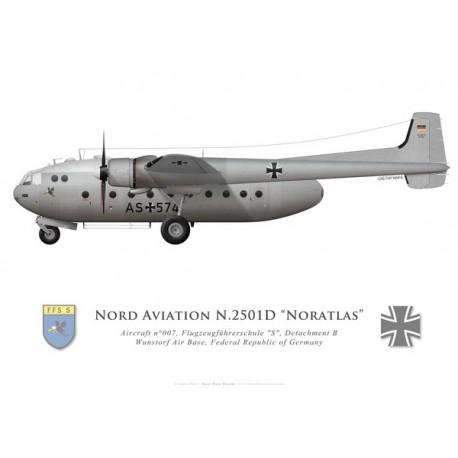 "Nord 2501D Noratlas, Flugzeugführerschule ""S"", Wunstorf Air Base, Federal Republic of Germany"