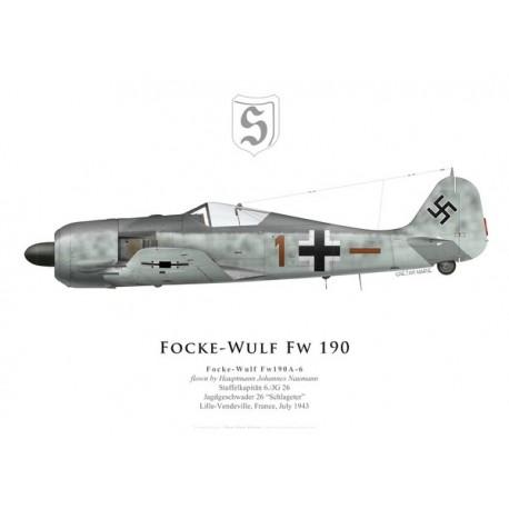 Focke-Wulf Fw 190A-6, Hptm. Johannes Naumann, 6./JG 26