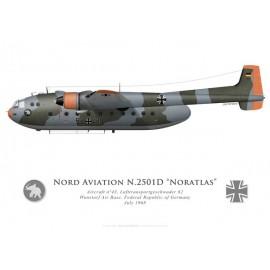 Nord 2501D Noratlas, Lufttransportgeschwader 62, Wunstorf Air Base, Federal Republic of Germany, July 1968