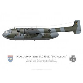Nord 2501D Noratlas, Lufttransportgeschwader 63, Hohn Air Base, Federal Republic of Germany