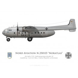 Nord 2501D Noratlas, Lufttransportgeschwader 61, Landsberg/Lech airbase, Federal Republic of Germany