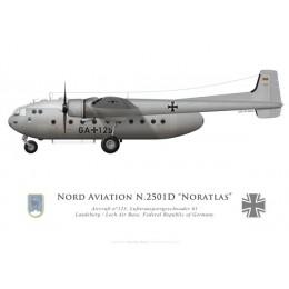 Nord 2501D Noratlas, Lufttransportgeschwader 61, Landsberg/Lech , RFA
