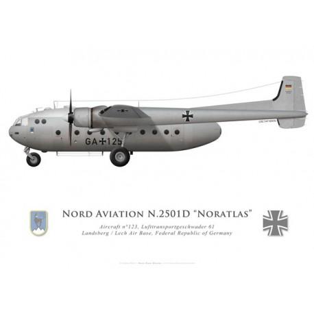 Nord 2501D Noratlas, Lufttransportgeschwader 61, Landsberg/Lech airbase, Federal Republic of Germany