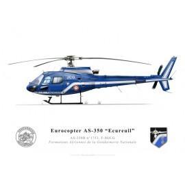 AS-350B Ecureuil, F-MJCG, Formations Aériennes de la Gendarmerie Nationale