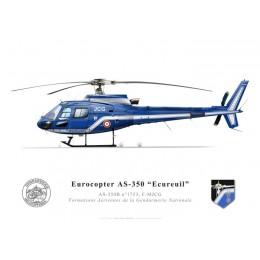 """Eurocopter AS-350B """"Ecureuil"""" n°1753, F-MJCG Formations Aériennes de la Gendarmerie Nationale"""