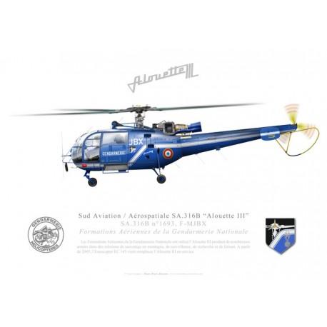 "Eurocopter SA.316B ""Alouette III"", Gendarmerie Nationale, France"