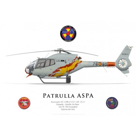 Eurocopter EC 120B Colibri, Patrulla ASPA demonstration team, Spanish Air Force