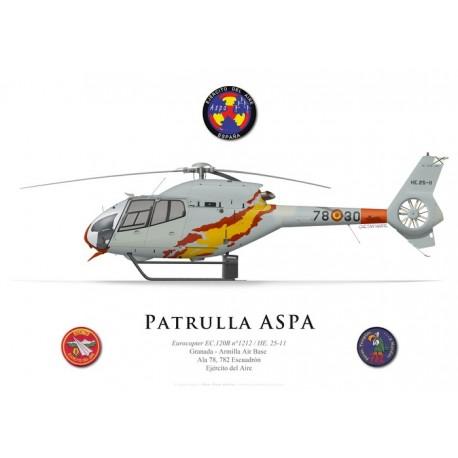 Eurocopter EC.120B Colibri, Patrulla ASPA, Ejército del Aire
