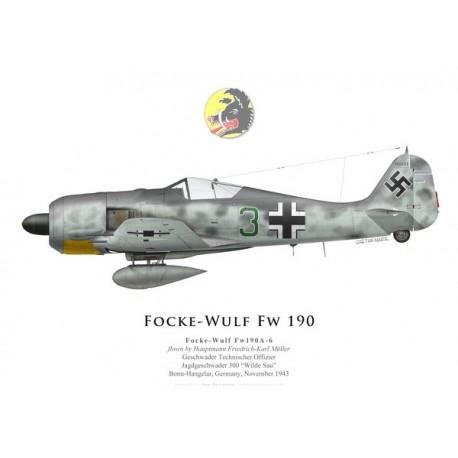 Focke-Wulf Fw 190A-6, Hptm. Friedrich-Karl Müller, JG 300