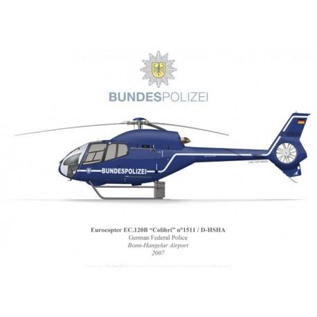 Eurocopter EC120B Colibri D-HSHA, German Federal Police, Bonn-Hangelar Airport, 2007