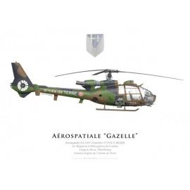 SA.341F Gazelle, 1er Régiment d'Hélicoptères de Combat, Phalsbourg, Aviation Légère de l'Armée de Terre