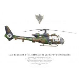 SA.341F Gazelle, 6ème Régiment d'Hélicoptères de Combat, Compiègne, 2000